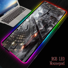 MRGBEST Anime Girl with Dog Large Gaming Computer Mouse Pad RGB Illumination Mousepad Gamer Mousepad Keyboard Pads USB Mause Mat