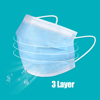 Disposable Mask 3 layers Masks Breathable Face Mouth Safe Mask Kids Adult Non-woven Filter Masks