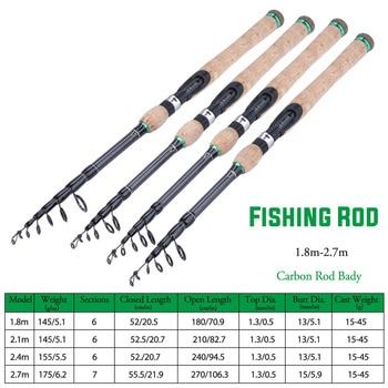Best No1 Carbon Fiber Travel Fishing Rod Fishing Rods cb5feb1b7314637725a2e7: A-LQSSLY A-RMHG