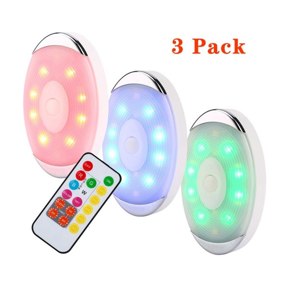 3 6 Pcs Wireless Color Changing Led