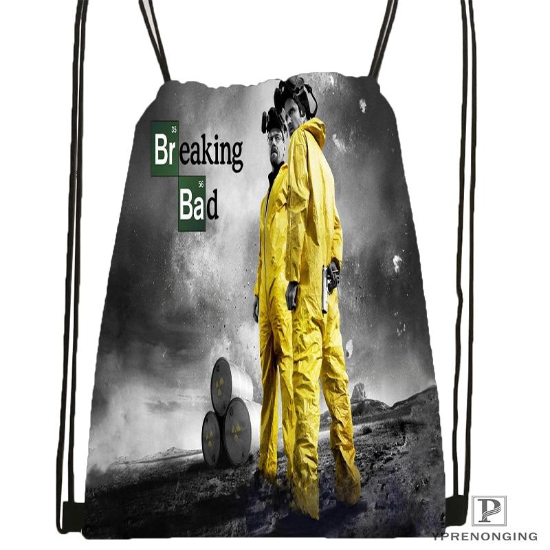 Custom Breaking Bad Drawstring Backpack Bag Cute Daypack Kids Satchel (Black Back) 31x40cm#180531-03-71