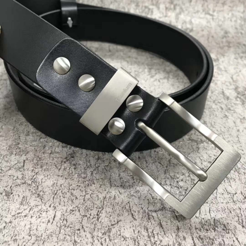 Leather Belt With Pure Titanium Buckle 35 Mm And 38 Mm