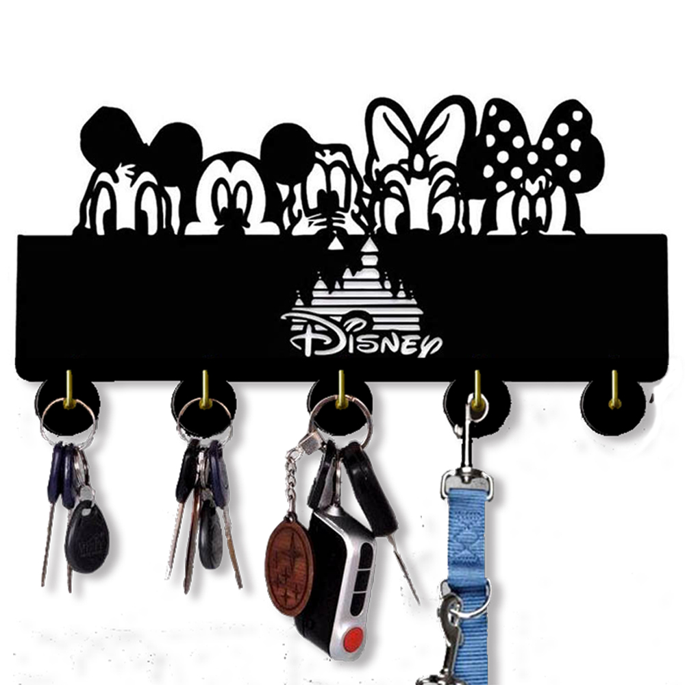 Mickey Mouse Wooden Wall Hook Self Adhesive Key Hanger | Unique Disney Gift For Kids | Bedroom Kitchen Office Key,Hat,Coat Hook.