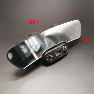 Универсальное автомобильное зеркало заднего вида 285 мм широкоугольное зеркало заднего вида авто широкая выпуклая изогнутая внутренняя кли...