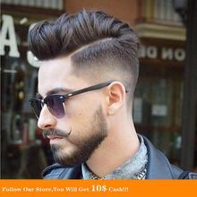 BYMC 6 дюймов мужские парик швейцарский шнурок и ПУ замена систем ручной работы мужчины парик парики натуральные Реми бразильский человеческих волос