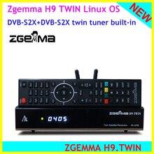 Zgemma الأصلي أحدث Zgemma H9 التوأم 4k UHD 2160P الفضائيات استقبال التوأم dvb s2x متعددة تيار موالف كاليفورنيا + التوأم CI زائد
