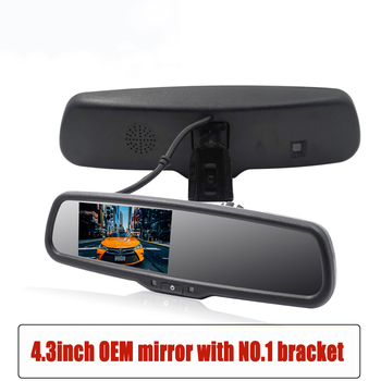 цена на 4.3 Inch Car Rearview Mirror Monitor HD Video Auto Parking Monitor TFT LCD Screen Rear View Camera Reverse Mirror With Bracket