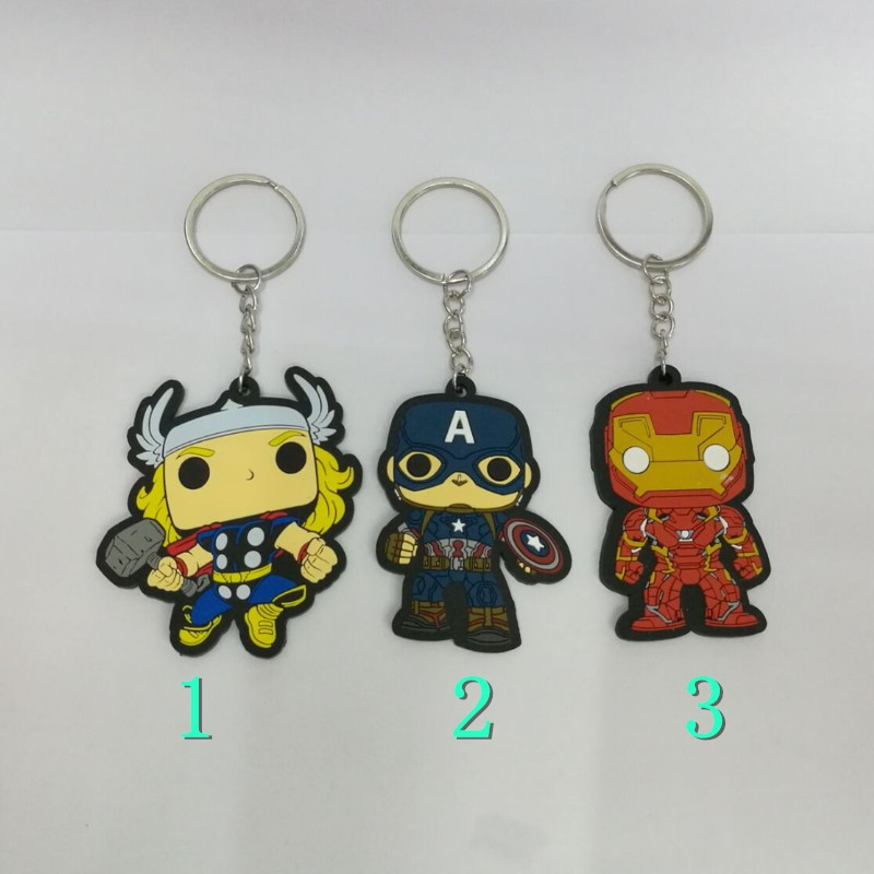 Keychain-Captain Spider-Thor Birthday-Gifts The Avengers Iron-Man America Kids 1pcs Classic