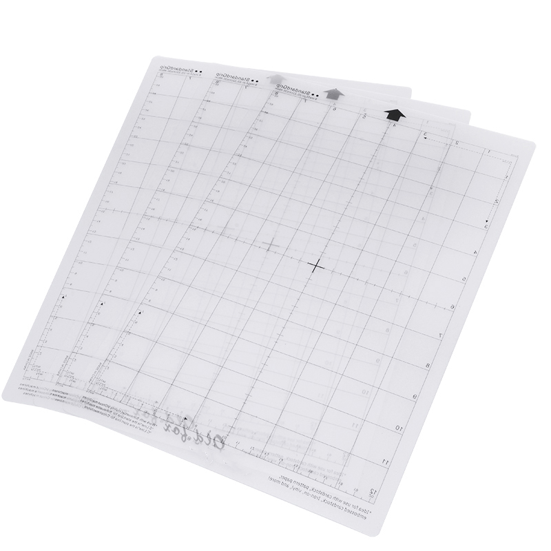 Clearance SaleAdhesive-Mat-Pad Cutting-Mat Plotter-Machine Silhouette Cameo Measuring-Grid Transparent