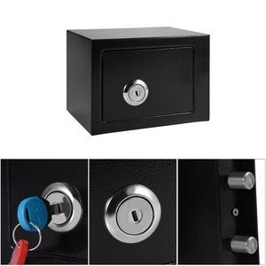 Image 4 - Abschließbar Langlebige Starke Hohe Sicherheit Stahl kleinen Safe Schlüssel Betrieben Geld Bargeld Lagerung Hause Büro