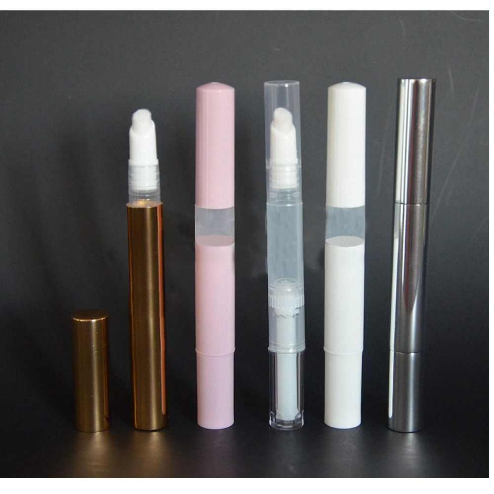 1 PC 3ml Empty Twist ปากกาแปรงขวดเติมเงินทองเล็บหลอดสำหรับบาล์มเล็บสีมาสคาร่าน้ำมันขายร้อน