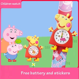 Reloj para niños de Peppa pig, reloj giratorio digital de dibujos animados, juguetes de desarrollo para niños, bonitos relojes para regalo para niños