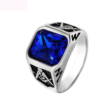 Luxury Freemasonry AG Finger Rings Titanium Steel Rings Casting Rings For Jewelry Anniversary Gifts Free Shipping цена 2017