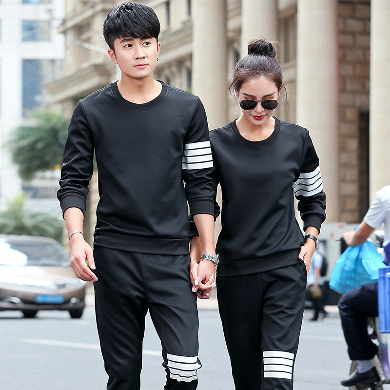 Sports Set Men's Spring And Autumn Two-Piece Set Long Sleeve Trousers Casual Sports Clothing Men And Women Couple Clothes Sports