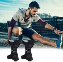2 ピース/ペアサポート膝パッド通気性クライミングパッドのサポート膝パッド強力なリバウンドスタビライザー膝ブースター屋外