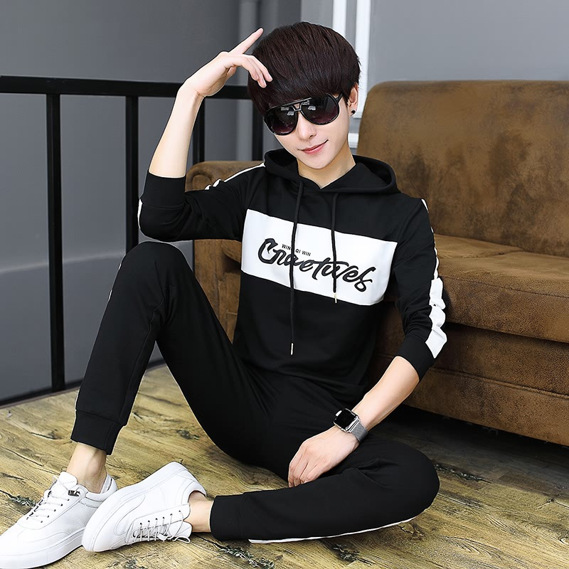 Hoodie 12 Autumn And Winter Summer Clothes 13 Boy 14 Casual Long Sleeve 15 Junior High School Students 16-Year-Old Sports Two-Pi