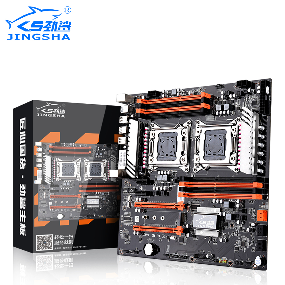 JINGSHA Dual Socket LGA 2011 X79 desktop motherboard support 2x <font><b>PCIe</b></font> x16 <font><b>M.2</b></font> SLi & Cross Fire Intel XEON CPU and ECC REG memory image