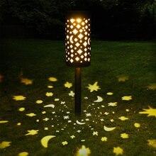 Садовый светильник на солнечной батарее светодиодный с полыми