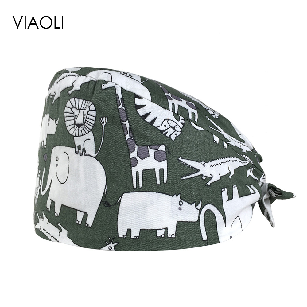 Printed Surgical Caps Multi-purpose Cotton Breathable Operating Room Hat Unisex Medical Caps Thin Section Oral Doctor Nurse Caps