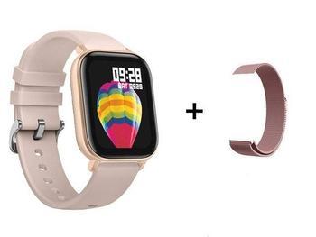 RUNDOING P8 1.4 inch Smart Watch Men Full Touch Fitness Tracker Blood Pressure Smart Clock Women GTS Smartwatch 16