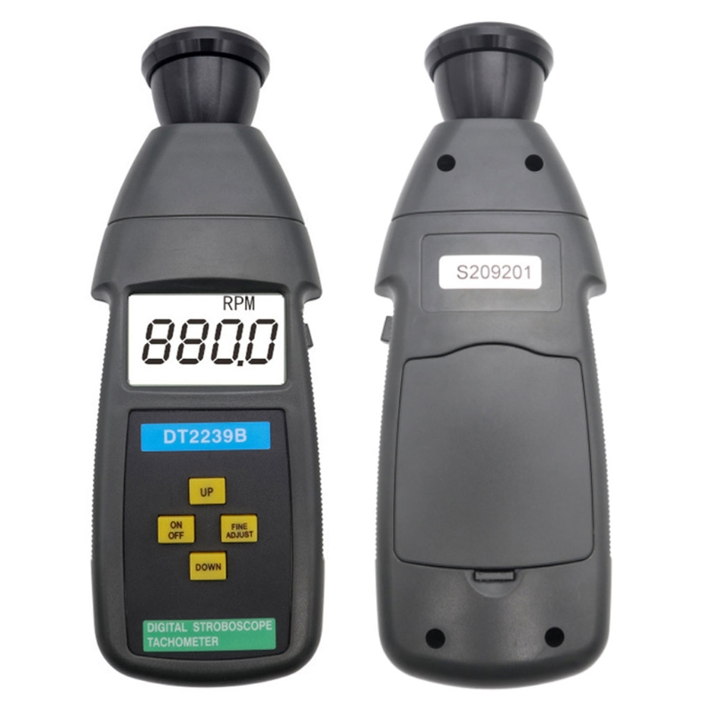 DT2239B Digital LCD Non-Contact Flash Stroboscope Tachometer Photoelectric
