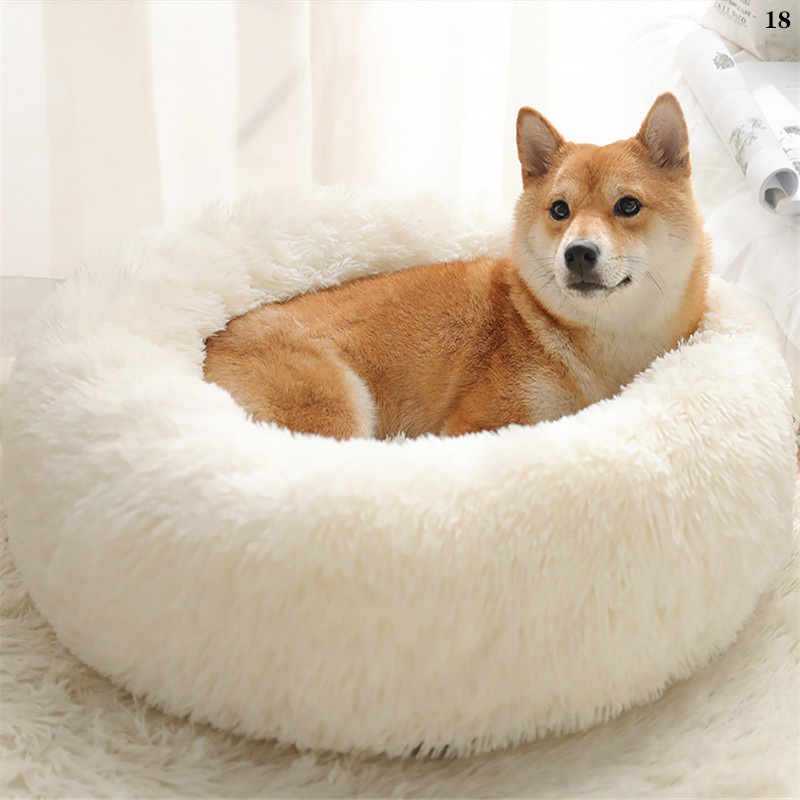 Super Soft Plush Dog Bed Fluffy Pet Bed Non-Slip Breathable Dog House Washable Cat House Puppy Portable Dog Supplies Dog Kennel