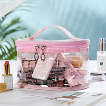 2019 New Newspaper pvc Cosmetic Bag Necessaire Travel Organizer Make up Box Toiletry Kit Wash Toilet Bag Large Waterproof Pouch ldajmw new striped men travel cosmetic bag waterproof toiletry bag necessaire wash bag organizer storage pouch