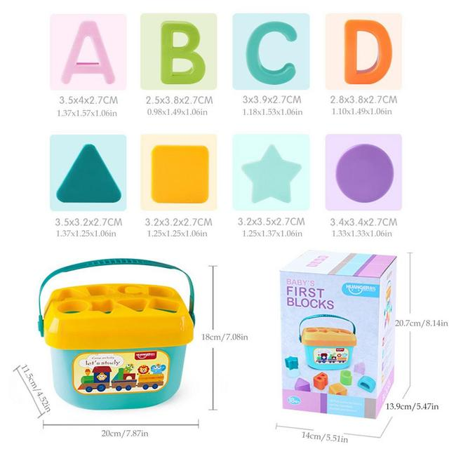 Baby Early Education Building Block Box 1-3 Years Old Multifunctional Baby Toy Shape Matching Early Education Toy 5