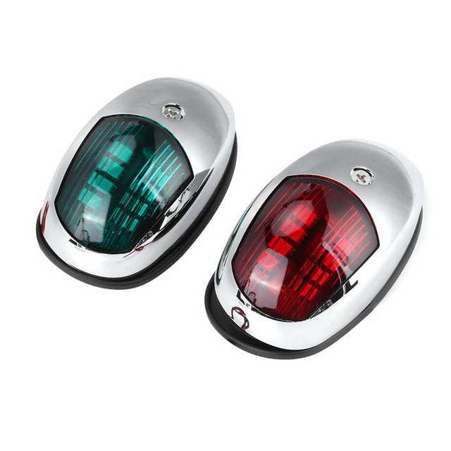 Marine Hardware Boat Accessories Marine 12V LED Marine Navigation Light Waterproof Green Starboards Red Port Side Mount