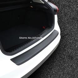 Car PU Outside Exterior Interior Rearguards Rear bumper Trunk Trim Bumper Pedal For Hyundai Tucson 2019 2020 2018 2017 2016