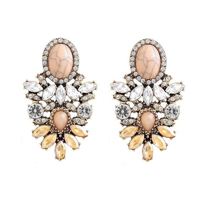 Vintage Statement Drop Earrings For Women 2019 New Bohemia Fashion Jewlery Korean Metal Geometric Golden Hanging Swing Earring