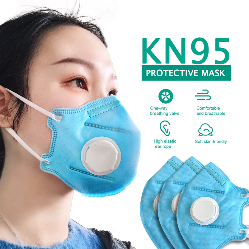 50PCs KN95 Antiviral Face Masks Anti-dust Anti Influenza Breathing Safety Face Mask Non-woven Dustproof Mouth Mask Dropshipper
