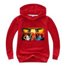 Boys Hoodie Legoes Ninjago T-Shirts Outerwear Long-Sleeves Toddler Girls Baby Chothing