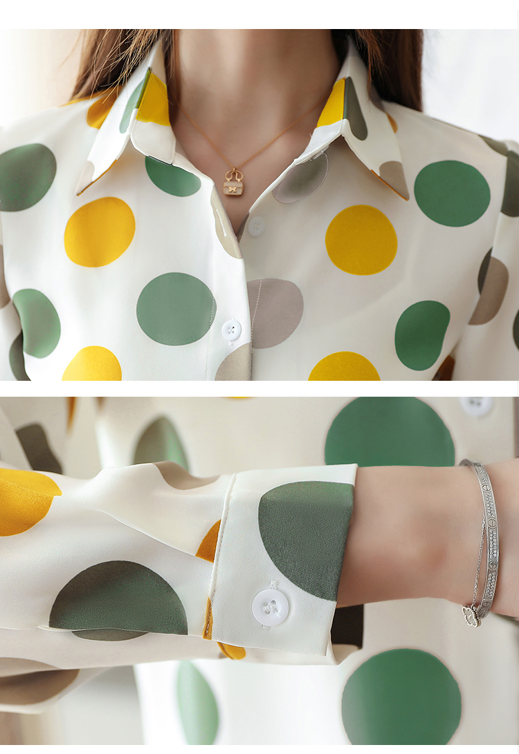 Chiffon Polka Dot Geometric Shirt 3