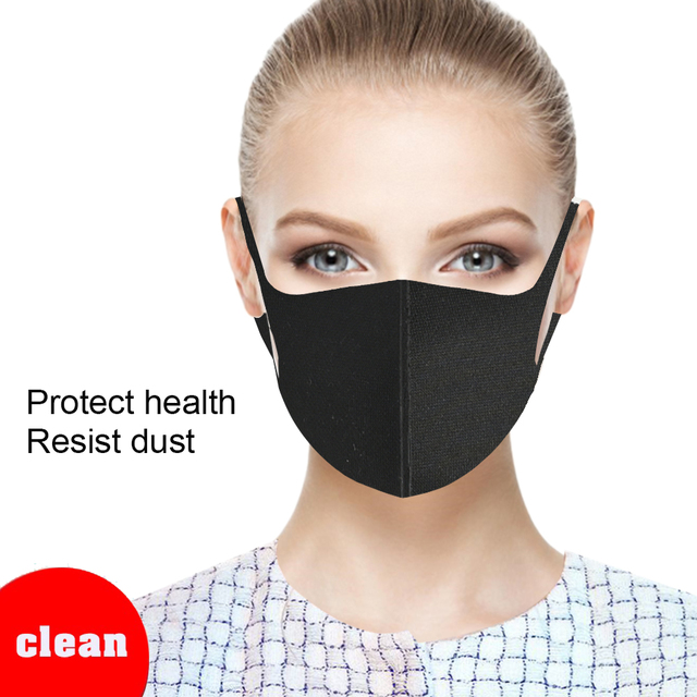 20/10/1pcs Mask Washable Earloop Face Mask Sponge Black Breathable Dust Mouth Masks Anti Pollution Wind Proof Mouth Cover PM2.5 1