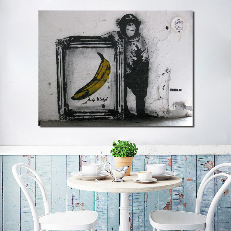ARTCANVAS Monkey Business Canvas Art Print by Banksy