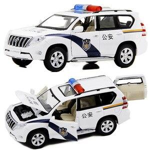 Image 5 - Modelo de aleación Toyota Prado 1:32 de alta calidad, juguetes de simulación para niños, modelo todoterreno, envío gratis