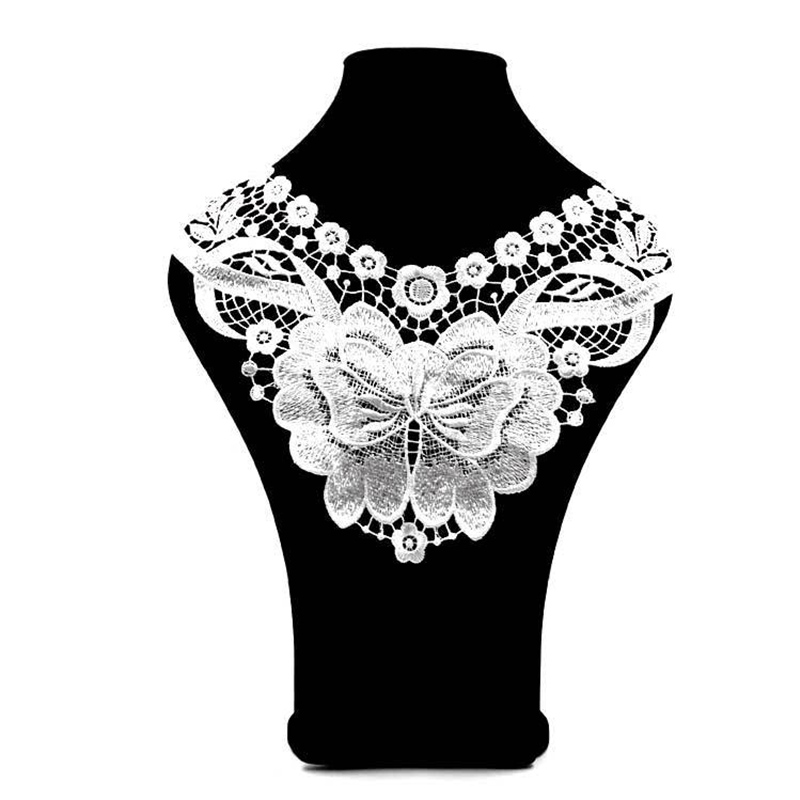New Lace Patches Clothing Accessories Sewing Fabric DIY Flower Fake Collar Embroidery Applique