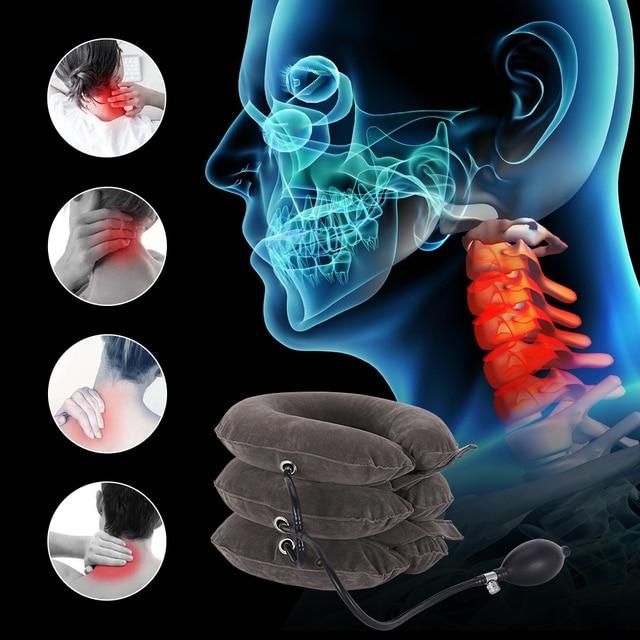 OLIECO gonflable Air cou Cervical collier de Traction doux voyage cou étirement orthèse soutien vertèbre cervicale Posture correcte