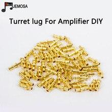 Diy projeto torreta lug tag placa de áudio placa terminal para tubo amplificador diy kit cobre banhado a ouro torreta