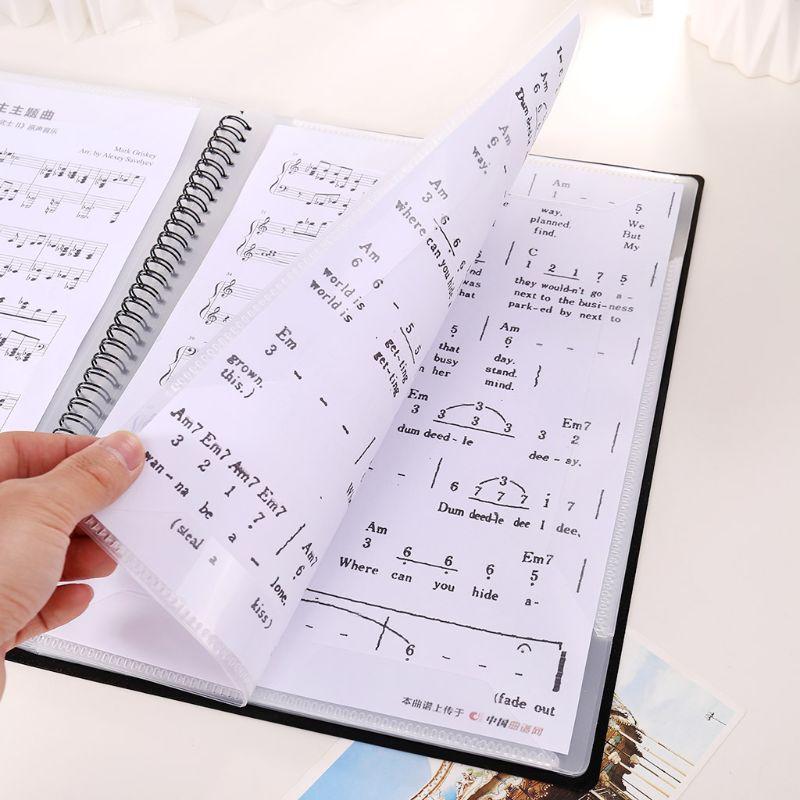 A4 Size Music Score Sheet Document File Folder Storage Organizer 20/30 Pages