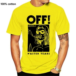 New !! OFF! Surfer Boyfriend Hardcore Punk White T Shirt Tee