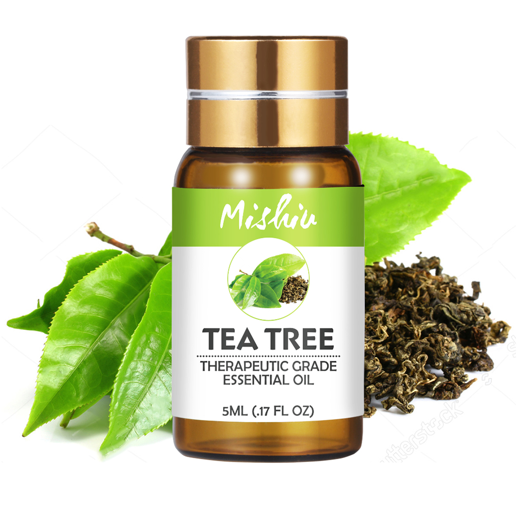 Mishiu Tea Tree Essential Oil Pure Aromatherapy Diffusers Oil Emotional Balance Air Fresh Fragrance Natural Body Oil 5ML