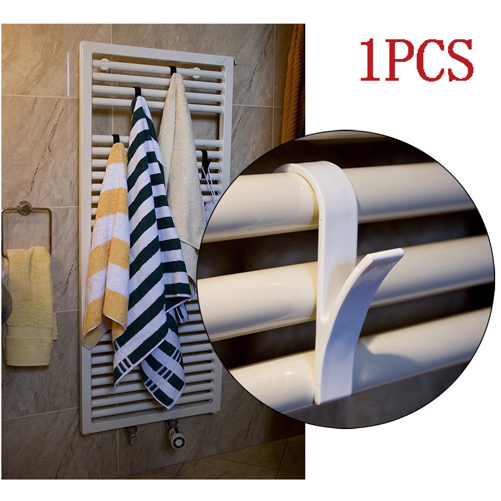 High Quality Hanger For Heated Towel Radiator Rail Bath Hook Holder Clothes Hanger Scarf Hanger White
