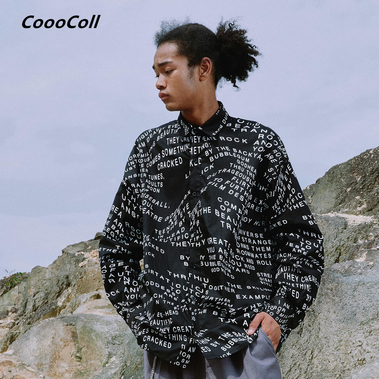 CoooColl Casual SHIRT Men Loose 19FW FULL PRINT SHIRTS Dress Hip Hop Clothing ASAP Rocky Shirts Fahion long Sleeve male tops