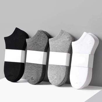 10pieces=5pair/lot Summer Cotton Man Short Socks Fashion Breathable Boat Comfortable Casual Male White hot Sale - discount item  50% OFF Men's Socks