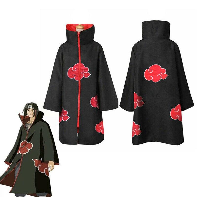 Anime NARUTO Uchiha Itachi Cosplay Costume Cloak Akatsuki Ninja Wind Coat Sets
