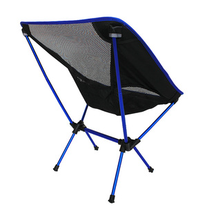 Image 4 - Free Shipping car Outdoor Stack Portable Foldable Stool Fishing Thickened Beach Camping Chair LOAD 145KG