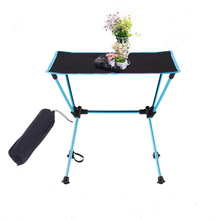 NKLC Lightweight Portable Folding Camp Table with Carrying Bag, Oxford Cloth Collapsible Picnic Table for Outdoor Camping, Hikin