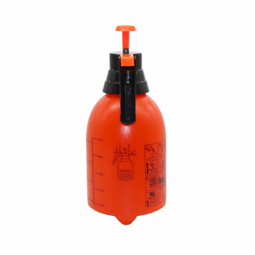 H44875971444f4b0e981b20f0b301f522i 2L/3L Orange Hand Pressure Trigger Sprayer Bottle Adjustable Copper Nozzle Head Manual Air Compression Pump Spray Bottle 1 Pcs
